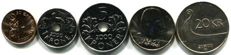 Norway coin set issued in 2000