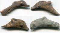4 assorted Olbia dolphin coins, circa 5th - 3rd Century BC
