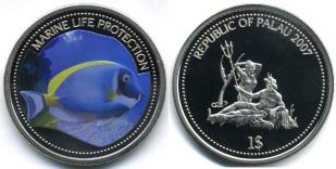 Palau Marine Life Protection Dollar 2007 Surgeon Fish