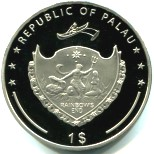 Common obverse to Palau 2009 1 Dollar coins