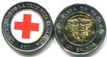Panama 1 Balboa 2017 Red Cross coin - Red Cross