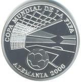 Paraguay 1 Guarani 2004 silver Proof World Cup soccer coin