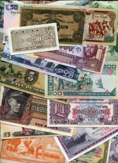 World banknote collection - 100 Different notes