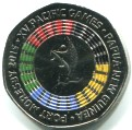 Papau New Guinea 50 Toea 2015 Pacific Games - Colored