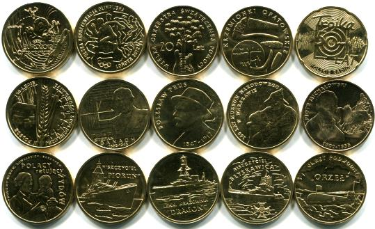 Poland 2012 2 Zlote coin set