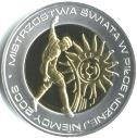 Poland 10 Zloty 2006 gold on silver Proof soccer coin