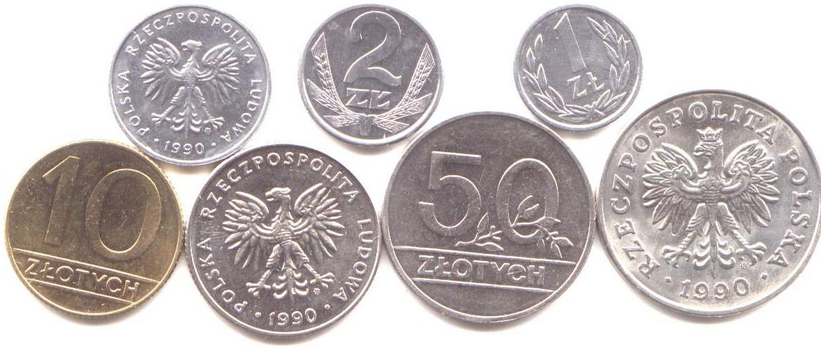 Poland 1990 Transitional Coin Set From Communism To Republic