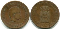 Portuguese India 1/2 Tanga coin, 1901-03 KM16
