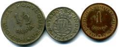 Portuguese India 1/2 Rupee, 1/4 Rupee, 1 Tanga 1947-1952