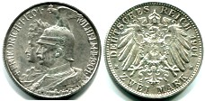 Prussia silver 2 Mark 1901, 200th Anniversary of Kingdom, KM525