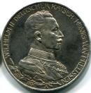 Prussia silver 3 Mark 1913 25th Anniversary of reign of King William II, KM535