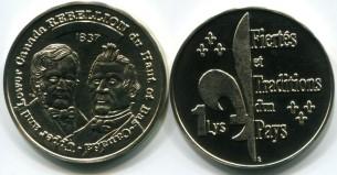 Quebec 1 Lys coin (1994) Br.X5var.