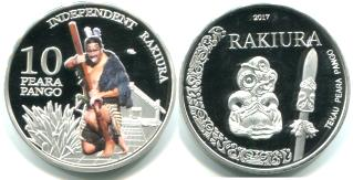 Independent Rakiura 10 Pera Pango (Black Pearls) 2017 coin