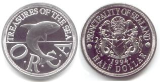Sealand Dollar and Half Dollar