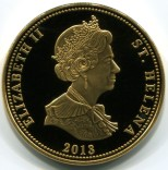 St. Helena 25 Pence 2013 Napoleonic War coins depict Queen Elizabeth on the obverse