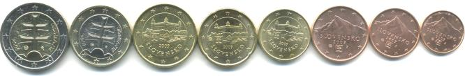 Slovak Republic Euro coin set
