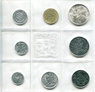 San Marino 1973 8 coin mint set