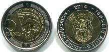 South Africa 5 Rand 2014 20th Anniversary of Freedom