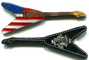 Somalia American Flag Guitar coin: 1 Dollar 2014