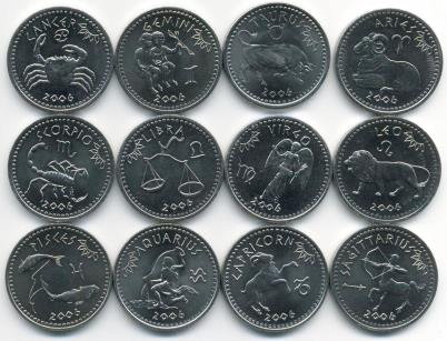 Signs of the Zodiac coin set