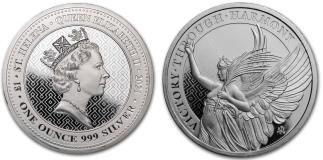 St. Helena 1 pound 2021 Victory 1 troy ounce silver coin