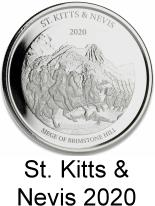 St. Kitts & Nevis 1 troy oz. silver 2 Dollar coins 2020 Siege of Brimstone Hill