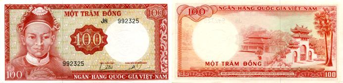 South Vietnam 100 Dong note (1966) P19a