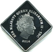 Common obverse for Tristan da Cunha 1 Crown 2014 Explorers