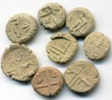 Persian Gulf area terra-cotta tokens, 11th-12th century AD
