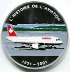 Togo silver 1000 Francs History of Aviation: A-319