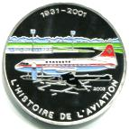 Togo silver 1000 Francs History of Aviation: Convair 440