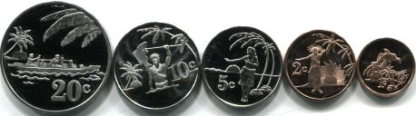 Tokelau 2012 five coin set