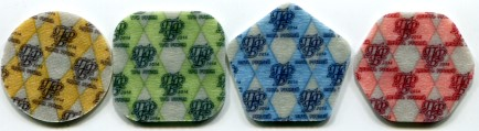 Backs of Transdniestra plastic composite coins
