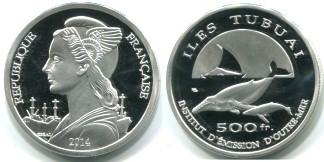 Isles Tubuai 500 Francs 2014