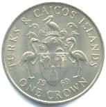 Turks and Caicos 1 Crown 1969 KM1