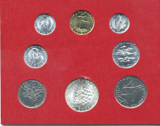 Vatican Mint Set of Pope Paul IV