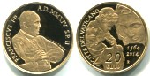 Vatican gold 20 Euro 2014 450th anniversary of birth of Michelangelo