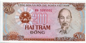 Vietnam 200 Dong note 1987, Front, P100