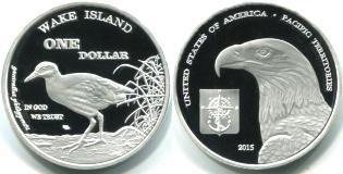 Wake Island 1 Dollar, 2015