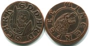 Westeros Copper Half Groat of Eddard (Ned) Stark minted at Winterfell circa AC550