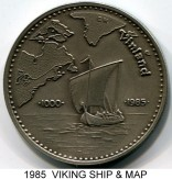 Wikingland 10 Wiking Mark 1985, Viking Ship & Map