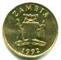 Obverse Zambia 5 Kwacha 1992 KM31